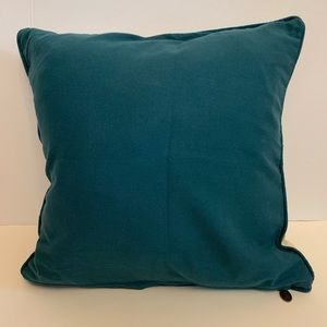 Pier 1 Accents - PIER 1 TEXTURED BLUE LEAF THROW PILLOW COVER